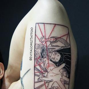 Evita at The Dragons Lair Tattoo Hong Ko