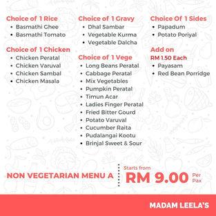 Non Vegetarian Menu A