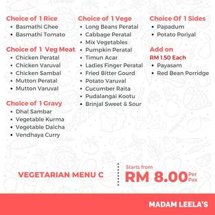 Vegetarian Menu C