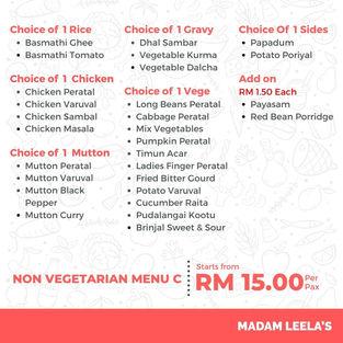 Non Vegetarian Menu C