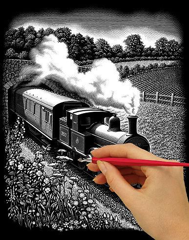 Steam Engine (Esdee Scraperboard Image).jpg