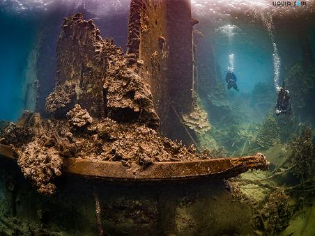 Diving Barge Reef in Guam