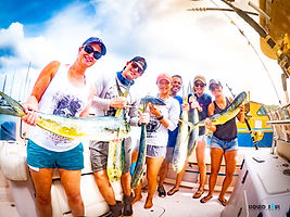 Caught mahi on a fishing charter in Guam