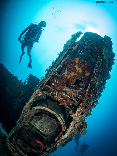 Diving The Val Bomber in Guam