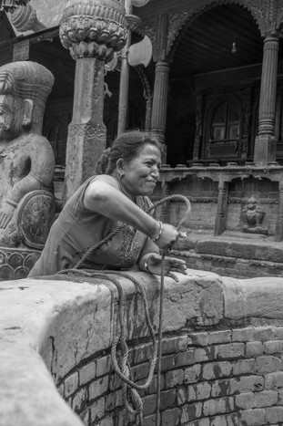 Woman at Water Well