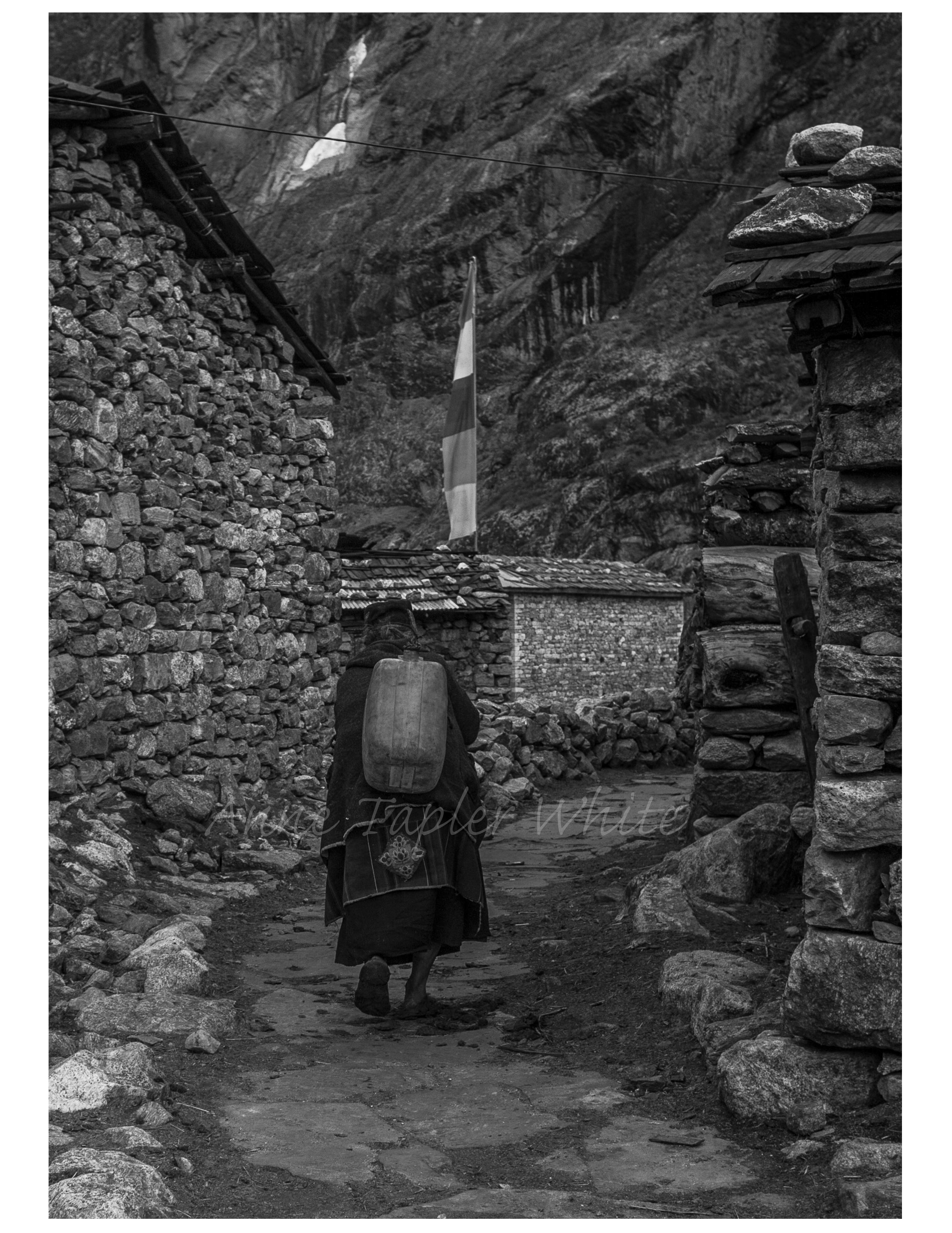 Old Woman Carrying Water
