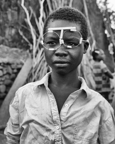 Boy with Handmade Glasses