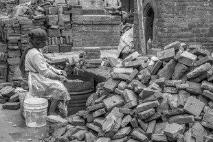 Earthquake Brick Cleaning