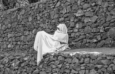 Pilgrim at Timket