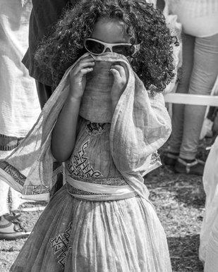 Child at Timket Festival