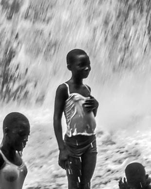 School Girl at Kintampo Falls
