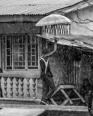 Man with Unbrella