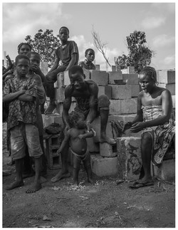 Brick Worker with Family