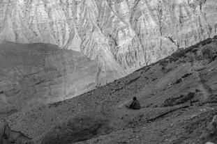 Woman on Mountainside