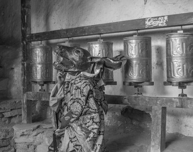 Dancer at Prayer Wheels