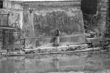 Woman at the Ghats