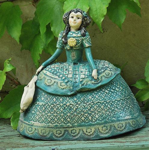 Menina marquise bleue