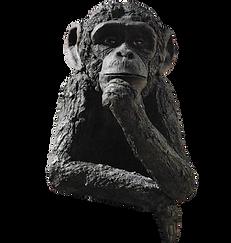 sculpture céramique contemoraine singe