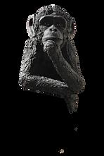 sculpture céramique singe