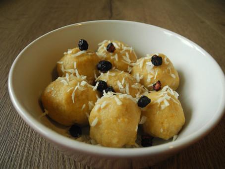 Batátové ovocno - ricottové guľky (bezlepkové)