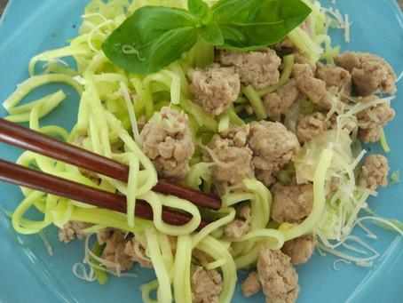 Zeleninové špagetky s mletým mäsom