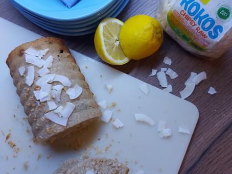 Kokosovo - citrónový chlebík (low FODMAP, bez lepku, bez mlieka)