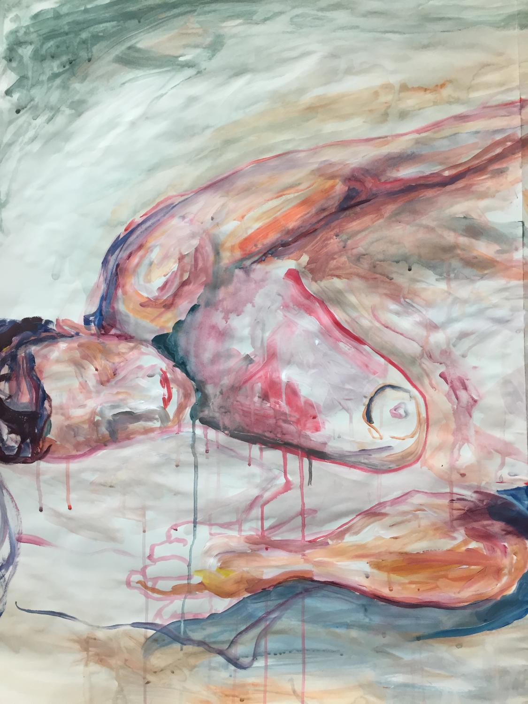 Acrylic on paper (head)