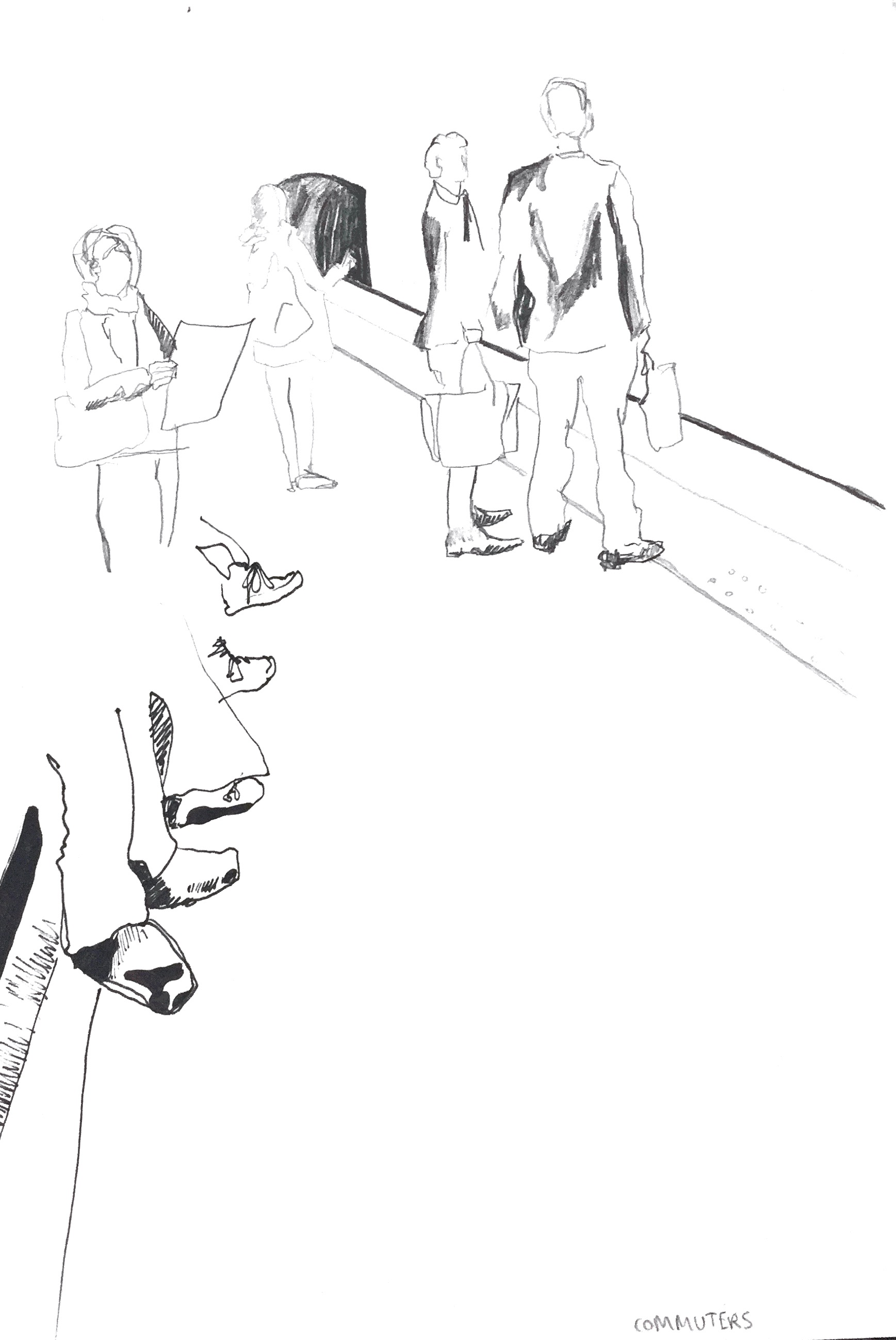 old street commuters