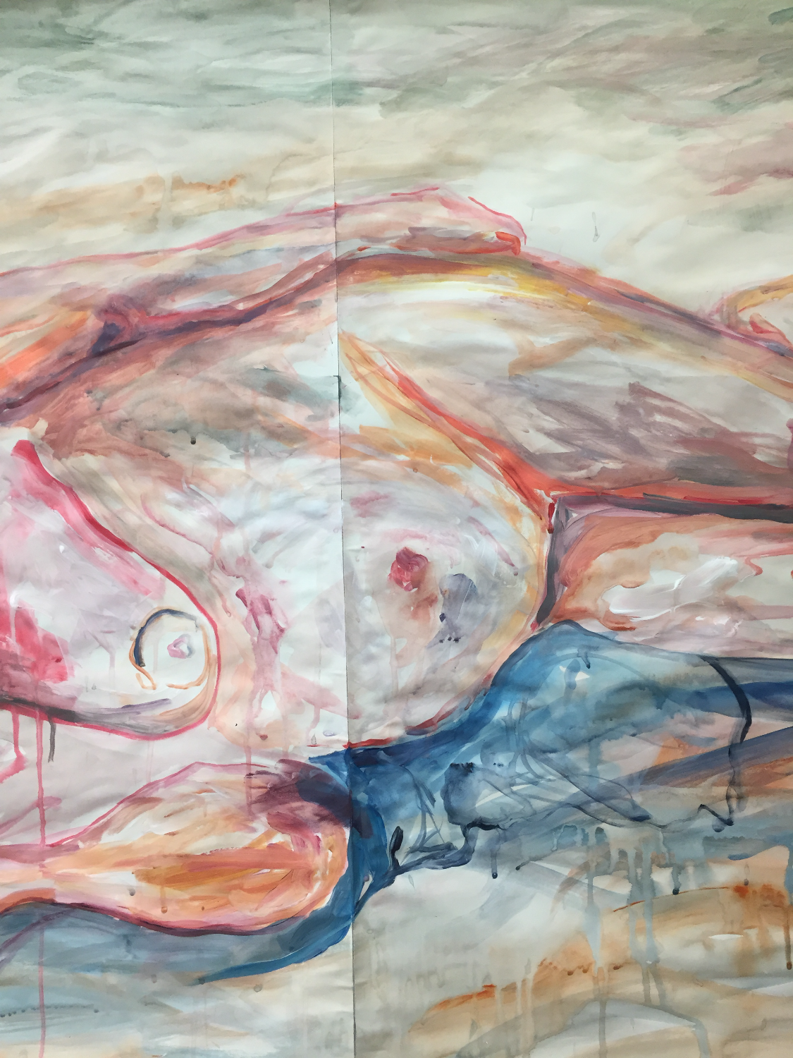 Acrylic on paper (breast)