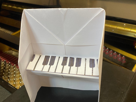Пианино техникой оригами