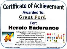 Scion Transformation Team Thank you Hero Award