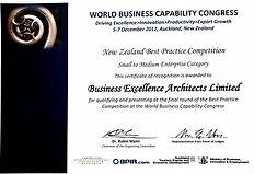 World Business Capability Congress Accolade
