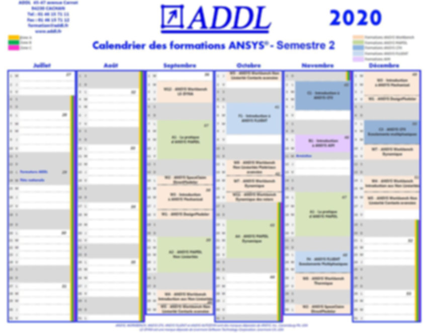 calendrier formations ansys 2020