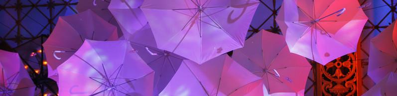 Umbrellas Over the Dance Floor