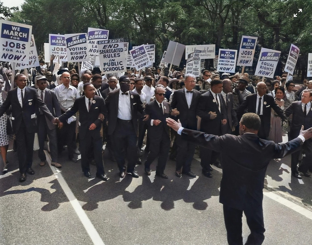 Martin Luther King Jr. participating in the March on Washington for Jobs and Freedom. Photo provided by Unsplash.