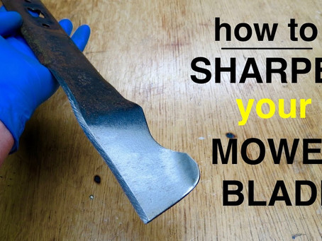 Winter Tip: Sharpening Your Lawn Mower Blade