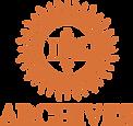Sunburst IHS logo underneath word: Archives