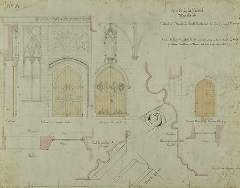 Architectural drawing of a doorway