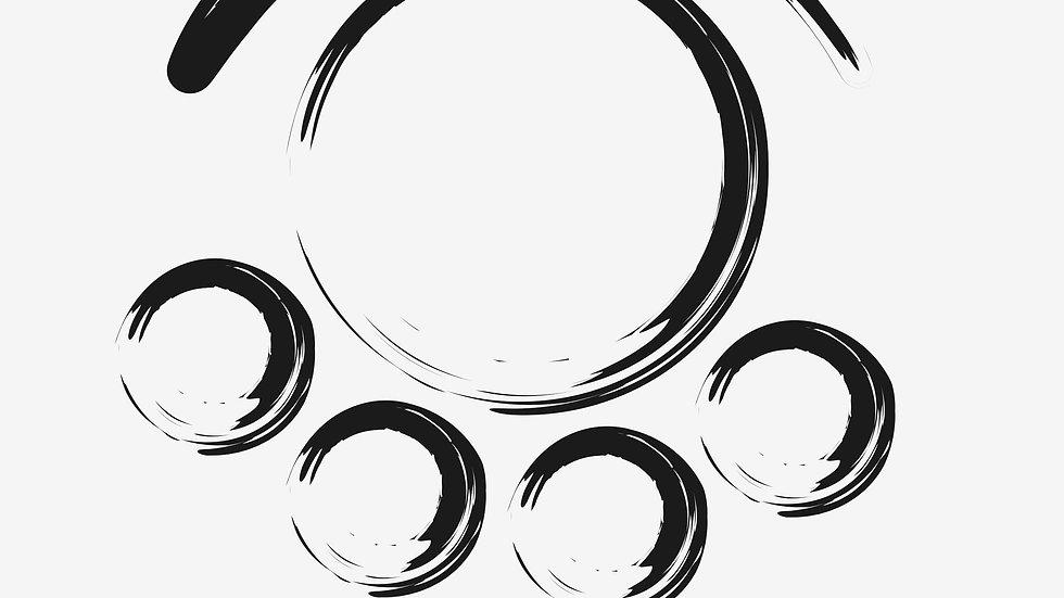 「心魂」抽象画 ジークレープリント  graphic design