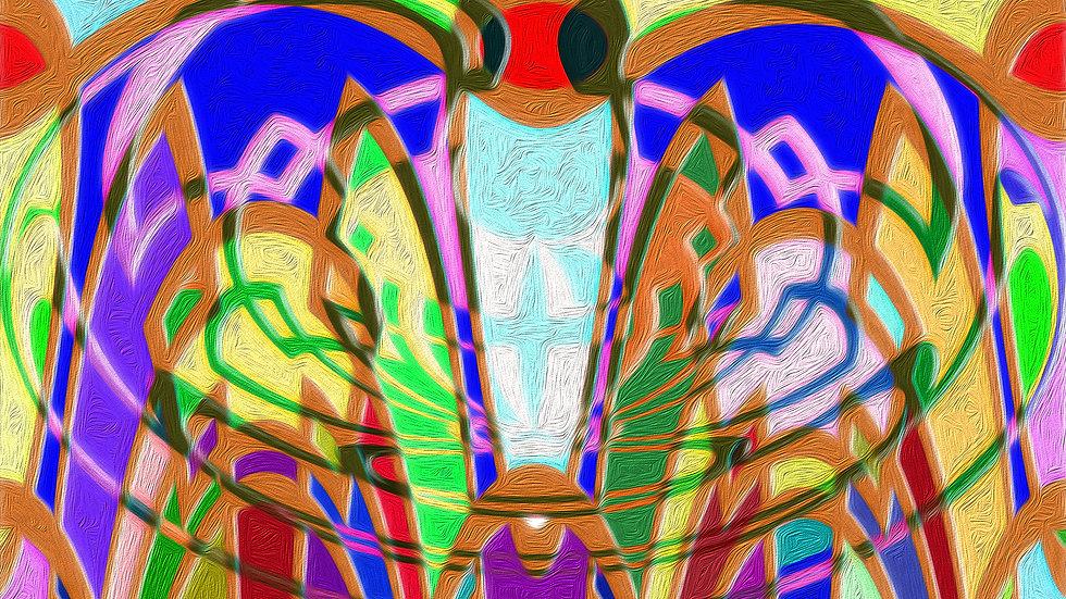 天使の怒り:Angel's Wrath ジークレープリント(抽象画)