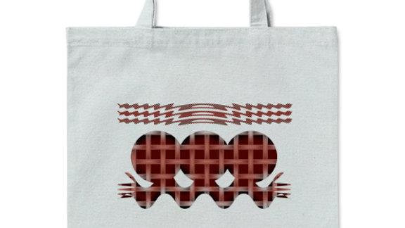 エイリアン(ワイン) グラフィックデザイン: トートバッグ Mサイズ