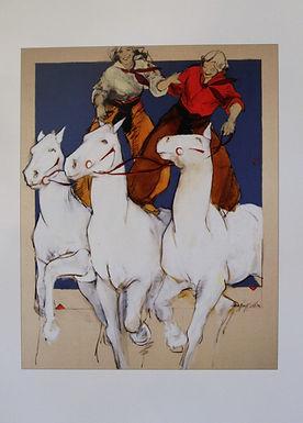 """She'll be Riding Three White Horses""  , Individual Card"