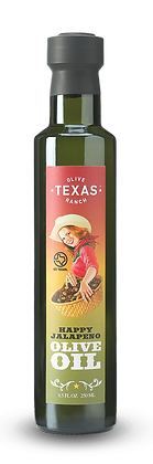 Texas Olive Ranch, Happy Jalapeno Infused Olive Oil