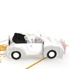 Lovepop: Wedding Car 3D Card