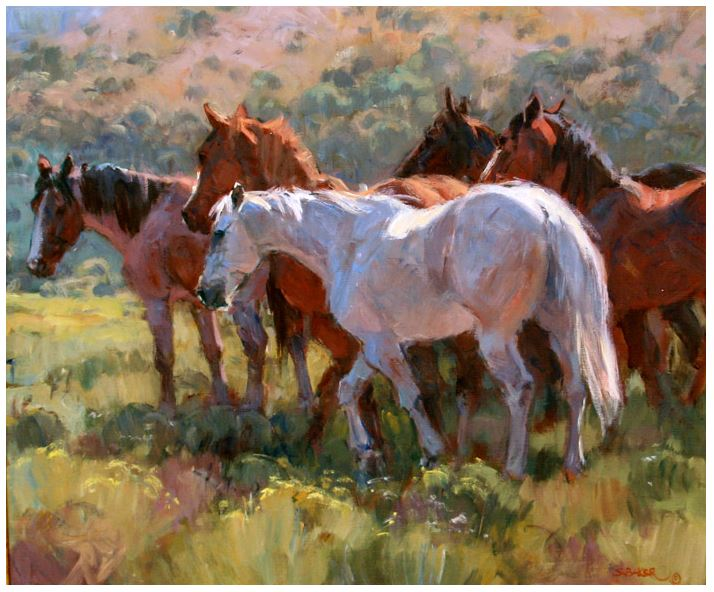 Milling Ranch Horses
