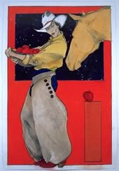 "Apples for the Yellow Mare, 30"" x 20"""
