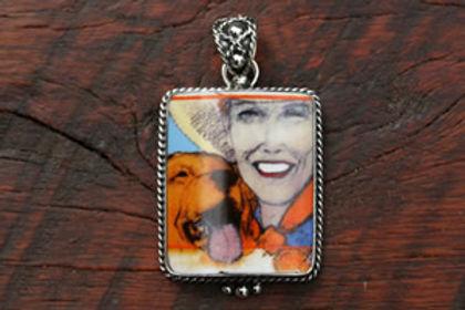 Dog Days, Sterling Silver Pendant