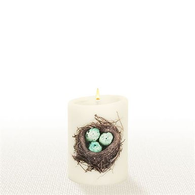 Lucid Forever Candles Robins Nest Natural Pillar