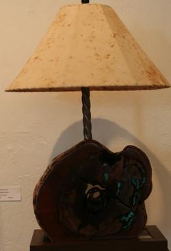 Lamp with Sheepskin Shade