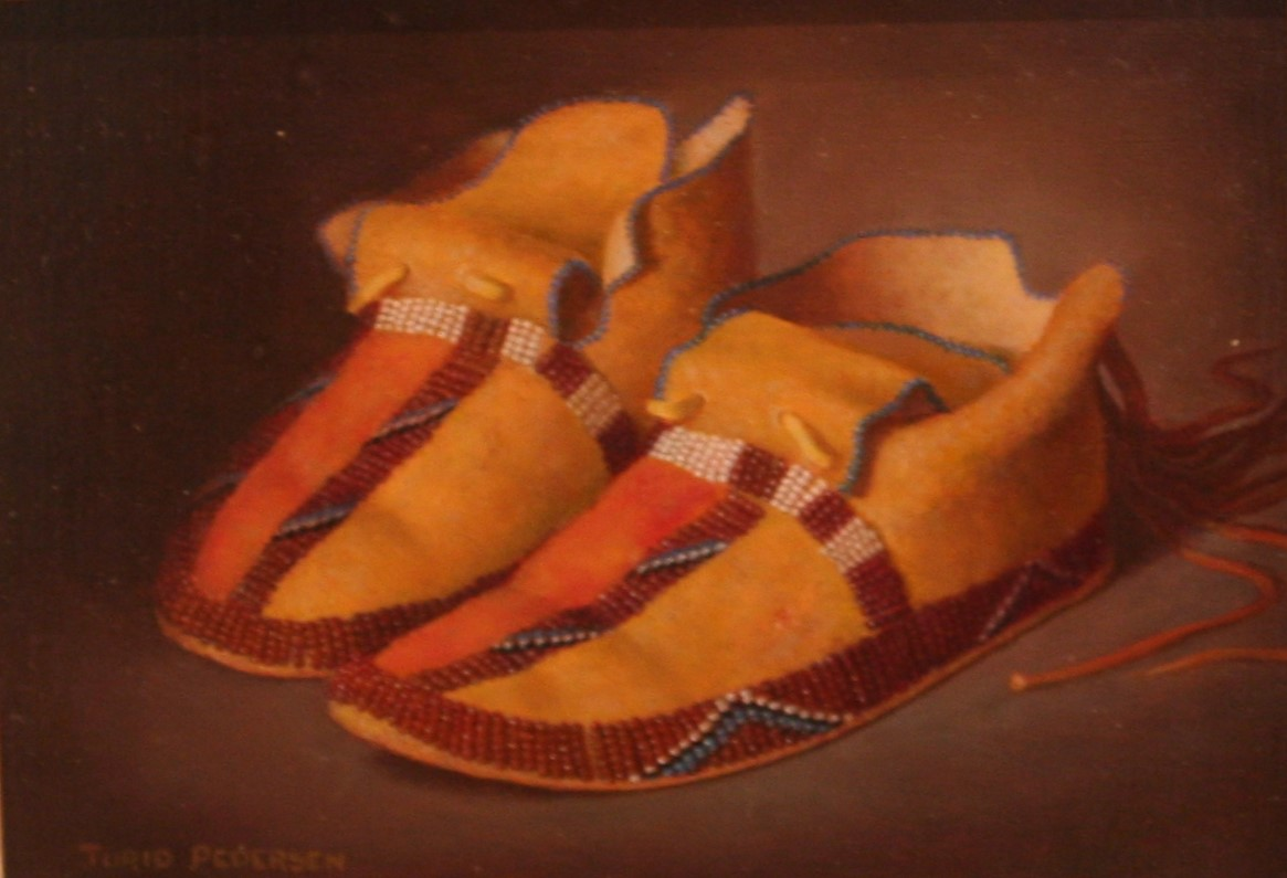 """Beaded Plains Indian Mocassins"""
